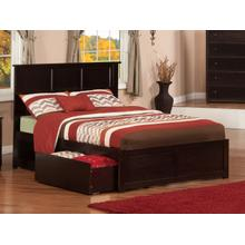 Madison Full Flat Panel Foot Board with 2 Urban Bed Drawers Espresso