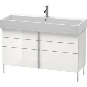 Vanity Unit Floorstanding, White High Gloss (decor)