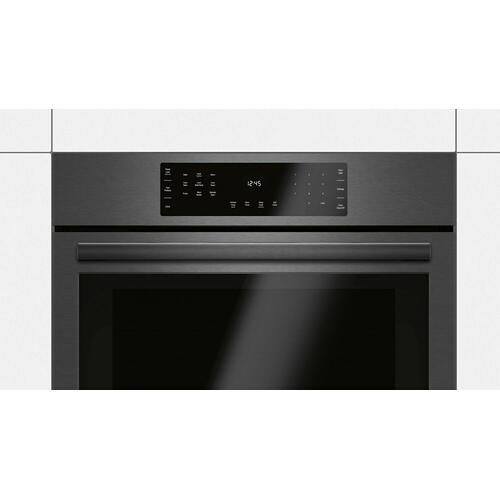 Bosch - 800 Series Single Wall Oven 30'' Black Stainless Steel HBL8443UC