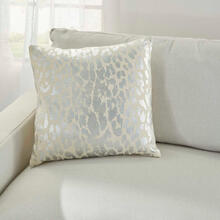 "Kathy Ireland Pillow A3245 Silver 18"" X 18"" Throw Pillow"