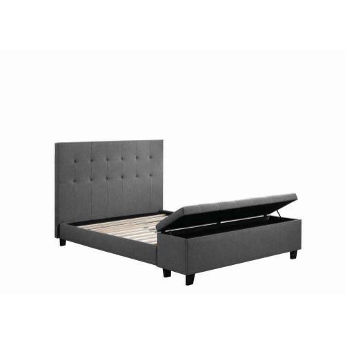 Halpert Transitional Light Grey Full Bed