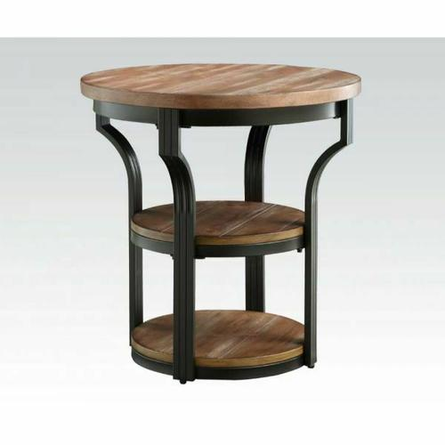 Acme Furniture Inc - ACME Geoff End Table - 80461 - Oak & Black