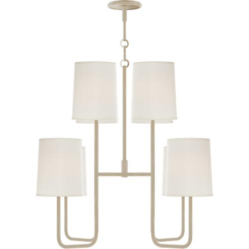 Visual Comfort - Barbara Barry Go Lightly 8 Light 31 inch China White Chandelier Ceiling Light