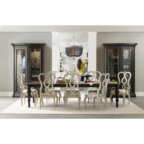 Dining Room Auberose Rect Leg Dining Table w/2-20in leaves