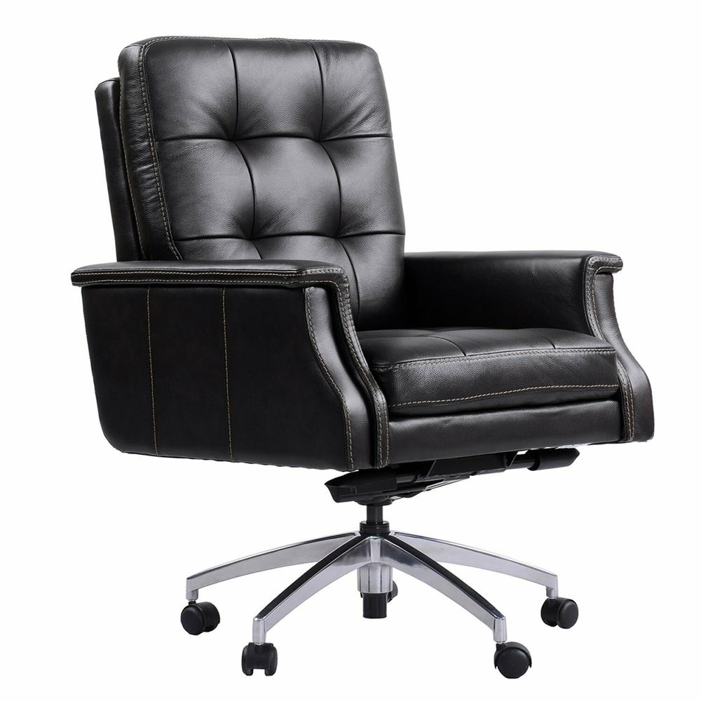 See Details - DC#128 Verona Coffee - DESK CHAIR Leather Desk Chair