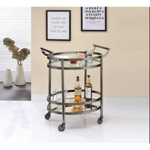 BLACK SERVING CART