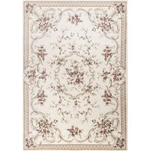 "Avalon 5606 Ivory Aubusson 2' X 7'7"" Runner"