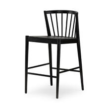Counter Stool Size Matte Black Finish Milan Bar + Counter Stool