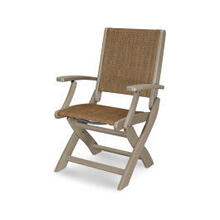 Coastal Folding Chair in Vintage Sahara / Chateau Sling