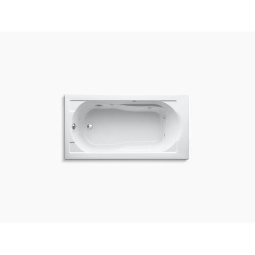 "Biscuit 60"" X 32"" Drop-in Whirlpool With Reversible Drain and Heater"