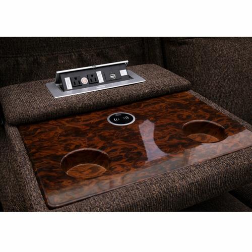 Parker House - ORPHEUS - HEDGE TEAK Power Drop Down Console Sofa
