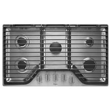 See Details - Whirlpool 36 inch 5 Burner Gas Cooktop with EZ-2-Lift™ Hinged Cast-Iron Grates