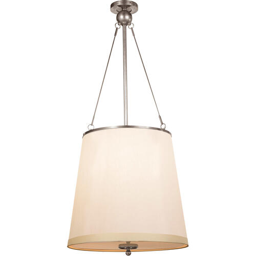 Barbara Barry Westport 3 Light 18 inch Pewter Finish Hanging Shade Ceiling Light