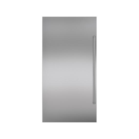 Sub-Zero - Stainless Steel Dual Flush Inset Door Panel with Pro Handle