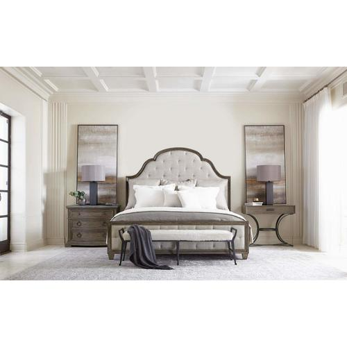 California King Canyon Ridge Upholstered Tufted Bed in Desert Taupe (397)