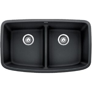 Valea® Equal Double Bowl With Low-divide - Anthracite