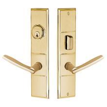 Lifetime Polished Brass Houston Escutcheon Entrance Set