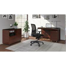 See Details - Sequel 20 6103 Compact Desk in Chocolate Walnut Black