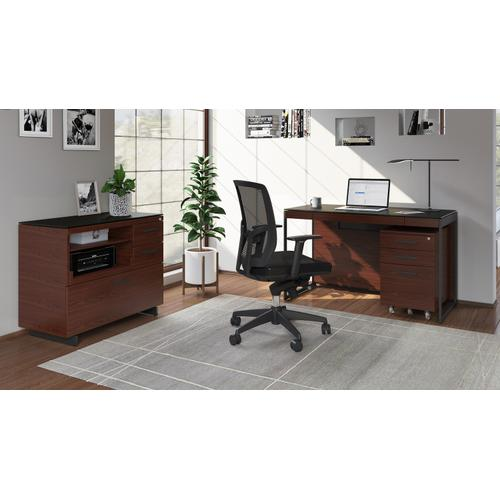 BDI Furniture - Sequel 20 6103 Compact Desk in Chocolate Walnut Black