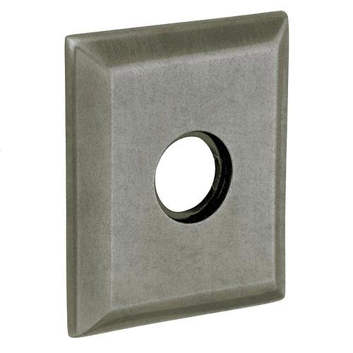 Baldwin - Distressed Antique Nickel R033 Square Rose