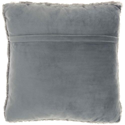 "Faux Fur Sn101 Charcoal 20"" X 20"" Throw Pillow"