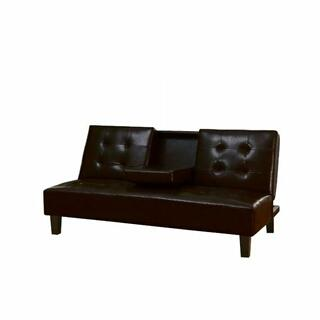 ACME Barron Adjustable Sofa w/Drop Back & Cup Holders - 05641 - Espresso PU