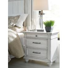 Kanwyn Three Drawer Night Stand Whitewash
