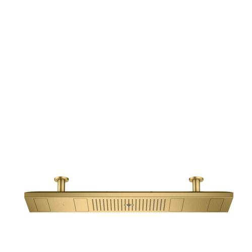 Brushed Gold Optic ShowerHeaven 1200/300 4jet with lighting 2700 K