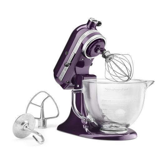 Artisan® Design Series 5 Quart Tilt-Head Stand Mixer with Glass Bowl Plum Berry