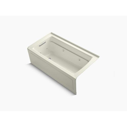 """Biscuit 60"""" X 32"""" Alcove Whirlpool With Integral Apron, Left-hand Drain and Heater"""