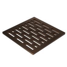 "English Bronze 4"" Square Shower Drain"