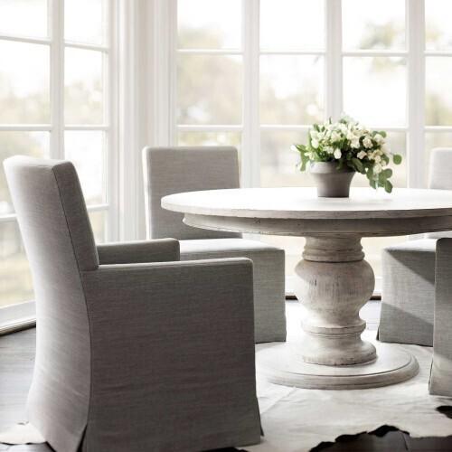 Bernhardt - Mirabelle Round Dining Table in Cotton (304)