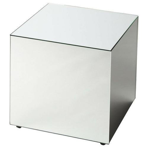 Butler Specialty Company - Used alone or bunched together in multiples, this mirrored cube is sure to be the glamorous focal point of your space. Crafted from wood solids and wood products, its clear mirrored glass panels will reflect the beauty all around.