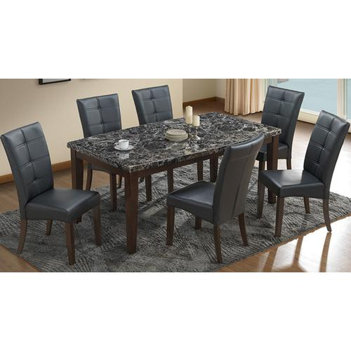 """Gallery - Black Laminate Top """"Boat-Shape"""" Table and Black Uph Chairs"""