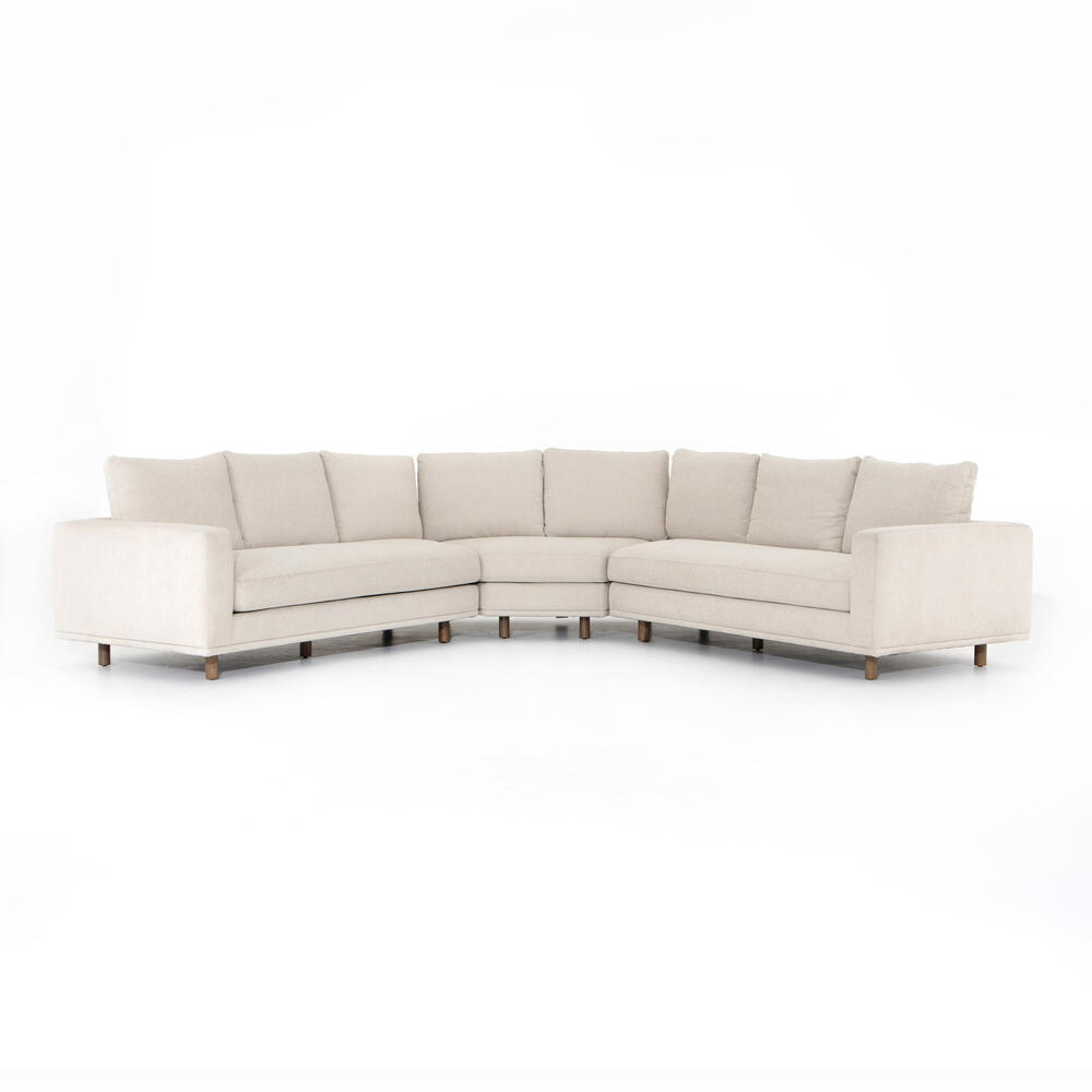 Small Wedge Configuration Dom 3-piece Sectional