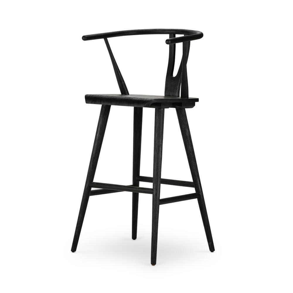 Cecelia Stool-matte Black Parawood-bar