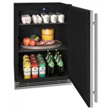 """View Product - Hre124 24"""" Refrigerator With Stainless Solid Finish (115v/60 Hz Volts /60 Hz Hz)"""