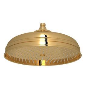 "Italian Brass 12"" Bordano Rain Anti-Calcium Showerhead"