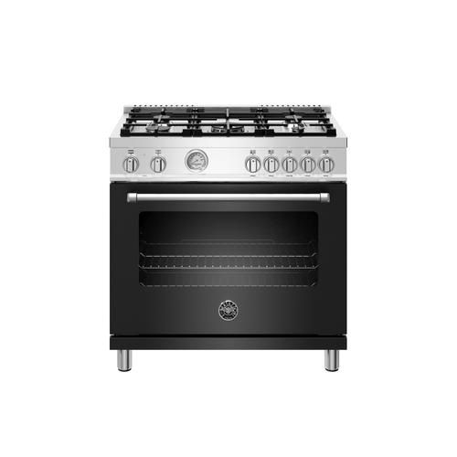 36 inch Dual Fuel Range, 5 Burner, Electric Oven Nero Matt