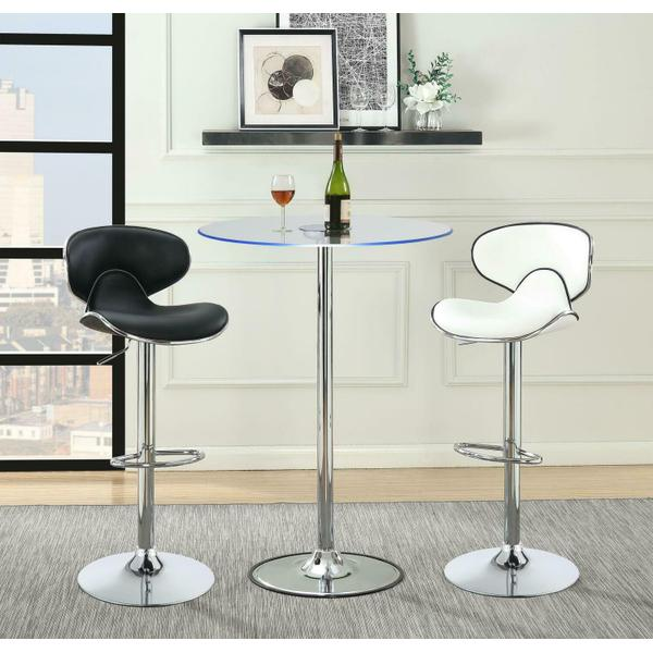 See Details - Contemporary Chrome LED Bar Table