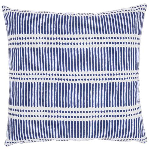 "Life Styles Ss912 Navy 18"" X 18"" Throw Pillow"
