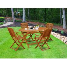 This 5 Piece Acacia Wooden Patio area Dining Sets offers an Outdoor-Furniture table and four foldable Outdoor-Furniture chairs