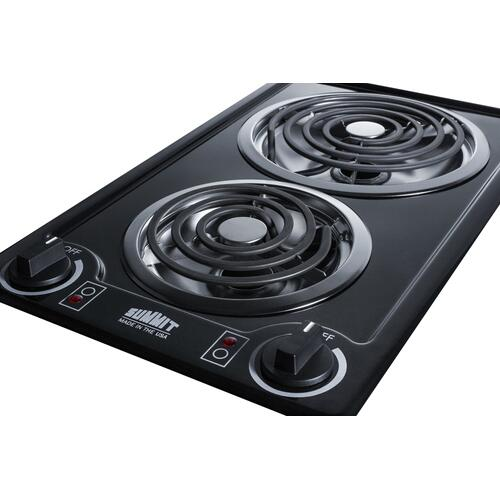 "12"" Wide 115v 2-burner Coil Cooktop"