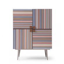 See Details - Modrest Macoy - Modern Multicolor and Black Ash Wine Cabinet