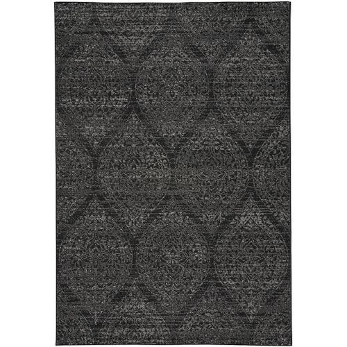 Quarry Black Grey Machine Woven Rugs