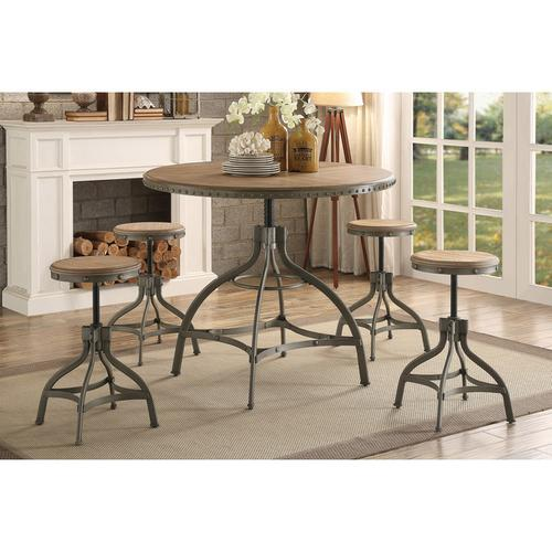 Gallery - Round Dining Table, Adjustable Height