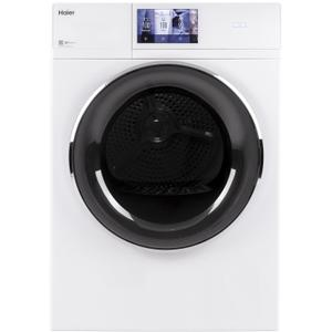 "Haier4.3 cu.ft. Capacity Smart 24"" Frontload Electric Dryer with Stainless Steel Basket"