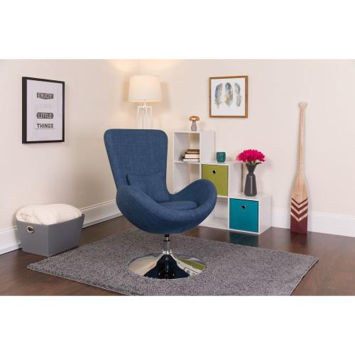 Alamont Furniture - Blue Fabric Side Reception Chair