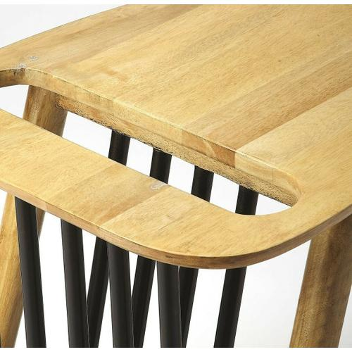 Butler Specialty Company - This sleek and stylish magazine table with is an elegant touch to virtually any modern space. Crafted from mango wood solids, it boasts a natural and black two-tone finish.