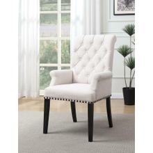 See Details - Weber Traditional Smokey Black Upholstered Armchair